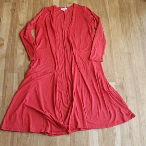 Small LuLaRoe Sarah Solid Red
